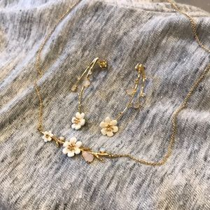 Anthropologie Cobblestone Lane Necklace Earrings